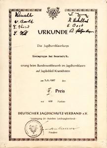 1967 JHB Urkunde Kranichstein